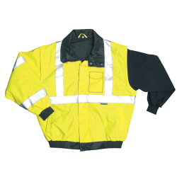 OccuNomix Polyester Bomber Jacket, Large, Yellow