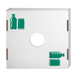 """Bankers Box® Waste And Recycling Bin Lids, Bottles/Cans, 18 1/4"""" x 18 1/4"""" x 6"""", 60% Recycled, White/Green, Pack Of 10"""
