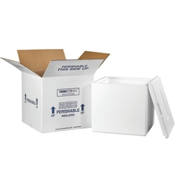 """Office Depot® Brand Insulated Shipping Kit, 12 1/2""""H x 13""""W x 13""""D, White"""