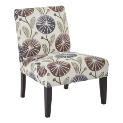 Ave Six Laguna Accent Chair, Dandelion Plum/Dark Espresso