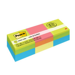 """Post-it® Notes Memo Cubes, 2"""" x 2"""", Green Wave, Pack Of 3 Cubes"""
