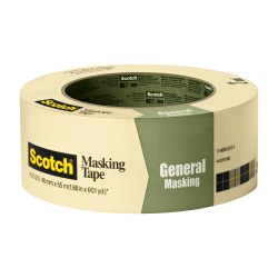 "Scotch® Greener Masking Tape For Basic Painting, 3"" Core, 2"" x 60 Yd., Pistachio"