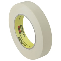 "Scotch® 234 General Purpose Masking Tape, 3"" Core, 1.5"" x 60 Yd., Tan, Case Of 12"