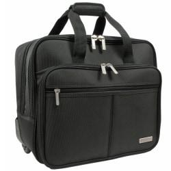 "Overland Geoffrey Beene Rolling Business Case With 18"" Laptop Pocket, Black"