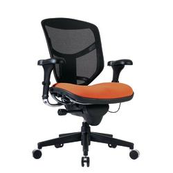 WorkPro® Quantum 9000 Series Ergonomic Mesh/Premium Fabric Mid-Back Chair, Tangerine/Black