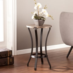 Southern Enterprises Libson Accent Table, Round, Black/Gold