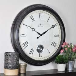 "FirsTime® Adair Round Wall Clock, 24"", Oil-Rubbed Bronze"