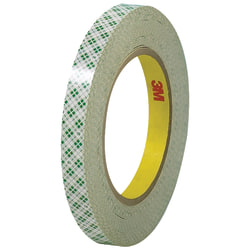 """3M™ 410 Double-Sided Masking Tape, 3"""" Core, 0.5"""" x 108', Off-White, Case Of 3"""