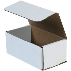 """Office Depot® Brand Corrugated Mailers 9"""" x 7"""" x 4"""", White, Bundle of 50"""