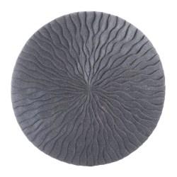 Zuo Modern Round Wave Plaque, Medium, Dark Gray