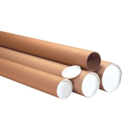 """Office Depot® Brand Heavy-Duty Mailing Tubes With Caps, 4"""" x 72"""", Kraft, Case Of 12"""