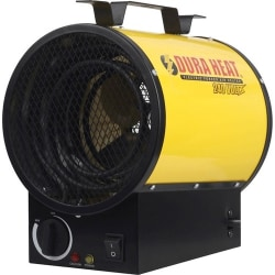 DuraHeat Electric Forced Air Heater - 240 Volt - Stainless Steel - Electric - 4000 W - 4000 W - 20 A - Portable - Yellow