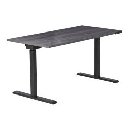 """Realspace® Magellan Performance Electric Height-Adjustable Standing Desk, 60""""W, Gray"""