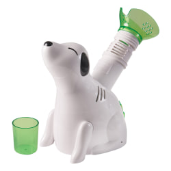 "HealthSmart® Kids' Personal Steam Inhaler Vaporizer, Digger Dog, 4 1/2""H x 9 3/4""W x 10""D, White"