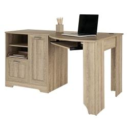 "Realspace® Magellan 60""W Corner Desk, Blonde Ash"