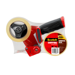 Scotch® H180 Box Sealing Tape Dispenser, 2 Rolls of Tape Included