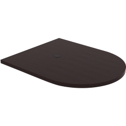 """Lorell® Prominence Conference Oval Table Top, 48""""W x 60""""L, Espresso"""
