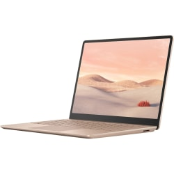 "Microsoft Surface Laptop Go 12.4"" Touchscreen Notebook - 1536 x 1024 - Intel Core i5 (10th Gen) i5-1035G1 1 GHz - 8 GB RAM - 128 GB SSD - Sandstone - Windows 10 S - Intel UHD Graphics - PixelSense - 13 Hour Battery Run Time"