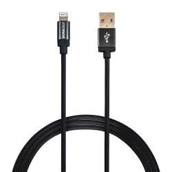 Duracell® Sync & Charge Cable, Lightning, 6', Gun Metal Gray, LE2282