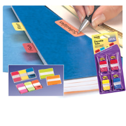 """Post-it® Durable Tabs, 1 1/2"""" x 2"""", Red/Yellow, 25 Flags Per Pad, Pack Of 2 Pads"""