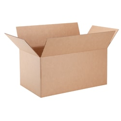 "Office Depot® Brand Corrugated Box, 21-1/2"" x 15"" x 12"", 40% Recycled, Kraft"