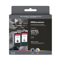 Office Depot® Brand ODL32/33 (Lexmark 32/33) Remanufactured Black/Tricolor Ink Cartridges, Pack Of 2