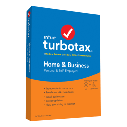 Intuit® TurboTax® 2019, Home & Business Federal Efile, For PC/Mac®