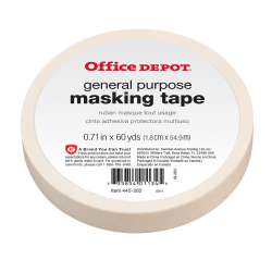 "Office Depot® Brand General-Purpose Masking Tape, 0.71"" x 60 Yd."