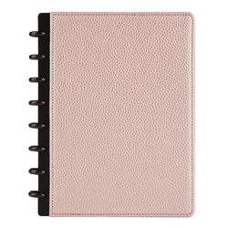 """TUL™ Elements Junior-Size Custom Note-Taking System Discbound Notebook, 5 1/2"""" x 8 1/2"""", Narrow Ruled, 120 Pages (60 Sheets), Rose Gold/Pebbled"""