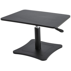 "Victor High™ Rise Collection Height-Adjustable Wood Laptop Riser, 15 1/4""H x 21""W x 13""D, Black"