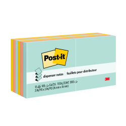 "Post-it® Pop-up Notes, 3"" x 3"", Marseille Color Collection, Pack Of 12 Pads"