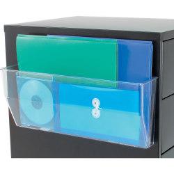 "Deflect-O® Magnetic DocuPocket, 6 3/8""H x 15""W x 3""D, Clear"