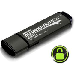 Kanguru Defender Elite30 Hardware Encrypted Secure SuperSpeed USB 3.0 Flash Drive, 64GB