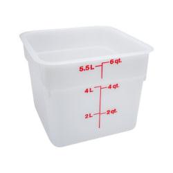Cambro CamSquare Food Storage Container, 6 Qt, White