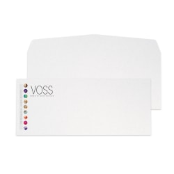 "Custom #10, Full-Color Flat Print Envelopes, 4-1/8"" x 9-1/2"", White Recycled, Box of 250"