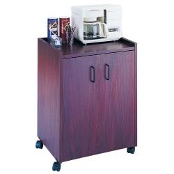 "Safco® Mobile Refreshment Center, 31""H x 23""W x 18""D, Mahogany"