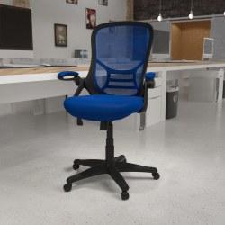 Flash Furniture Ergonomic Mesh High-Back Office Chair, Blue