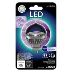 GE MR16 Dimmable 390 Lumens Indoor Floodlight LED Bulb, 7 Watt, 3000 Kelvin