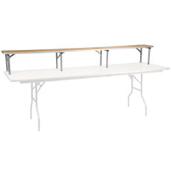 "Flash Furniture Birchwood Bar Top Riser, 12""H x 11-3/4""W x 96""D, Natural/Silver"