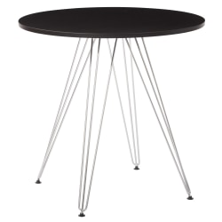 Ave Six Eiffel Dinette Table, Round, Black