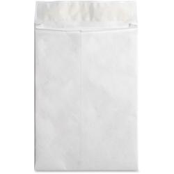 "Business Source Tyvek Expansion Envelopes - Document - 10"" Width x 13"" Length - 1 1/2"" Gusset - Peel & Seal - Tyvek - 100 / Carton - White"