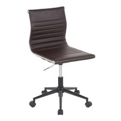 LumiSource Masters Task Chair, Black/Espresso