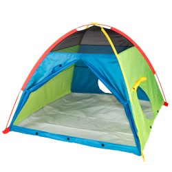 """Pacific Play Tents Silver Series Super Duper 4-Kid Play Tent, 58""""H x 58""""W x 46""""D, Multicolor"""