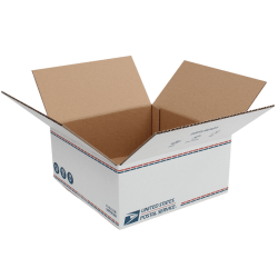 """United States Post Office Shipping Box, 12"""" x 12"""" x 5-1/2"""", White"""