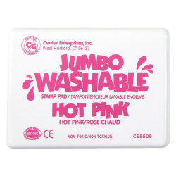 """Center Enterprise Jumbo Washable Unscented Stamp Pads, 6 1/4"""" x 4"""", Hot Pink, Pack Of 2"""