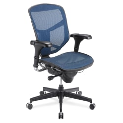 WorkPro® Quantum 9000 Mesh Series Ergonomic, Mid-Back Chair, Blue/Black