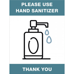 "Lorell® Please Use Hand Sanitizer Sign, 6"" x 8"", Green"