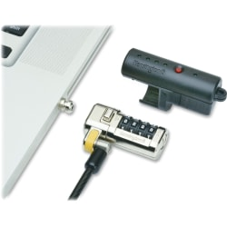 "SKILCRAFT® Combination Laptop Lock Set, 6"", Gray, Carton Of 20 (AbilityOne 5340-01-630-4191)"