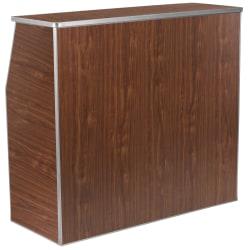 Flash Furniture Laminate Foldable Bar, 4', Walnut