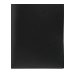 Office Depot® Brand Poly 2-Pocket Portfolio, Black